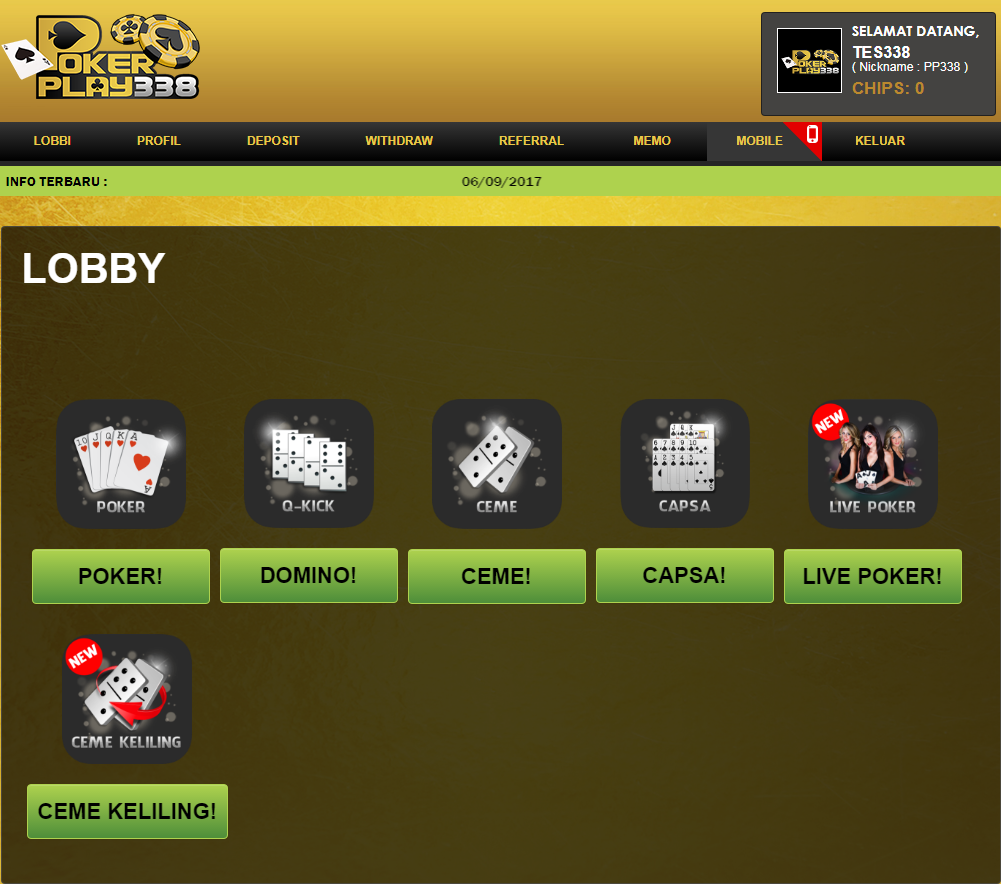 Lobby Pokerplay338